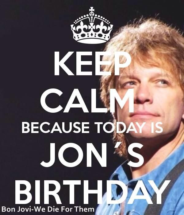 Happy Bday to my gorgeous Be always bless March 2 – Bon Jovi Birthday Card