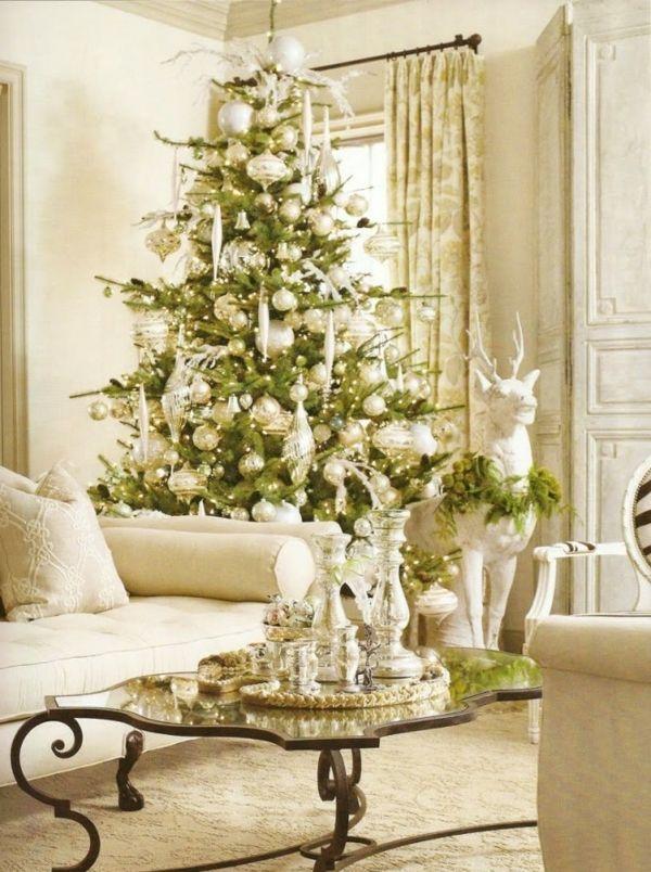 35 festliche weihnachtsdeko ideen klassische arrangement. Black Bedroom Furniture Sets. Home Design Ideas