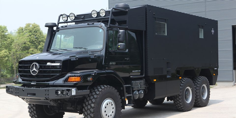 Mercedes 6x6 camper armadillo specialty vehicles ltd for Mercedes benz zetros 6x6 expedition vehicle