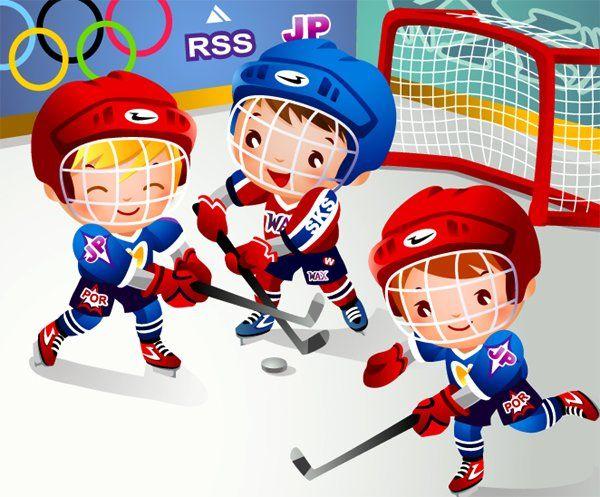 Funny Hockey Cartoons Vector Cartoon Child Hockey Vector Images Free Vector Art Graphics Cartoons Vector Hockey Kids Clip Art