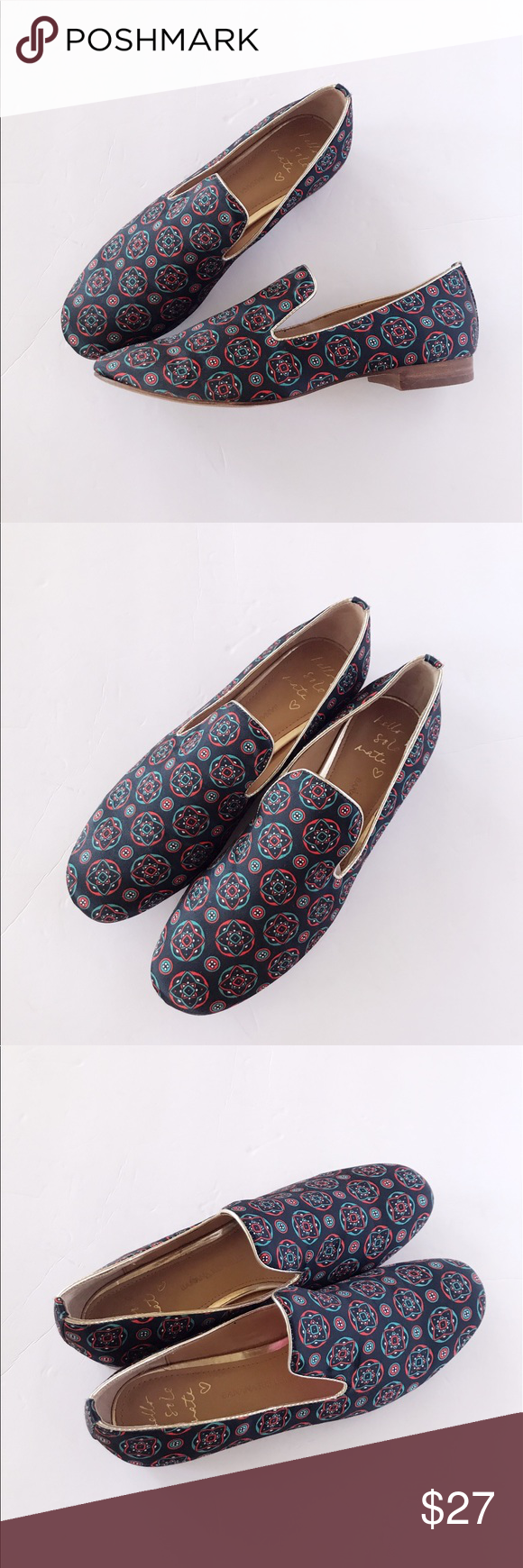 79d6cc0f412 ️BANANA REPUBLIC Silk Smoking Slipper In Excellent pre-owned condition.  Banana