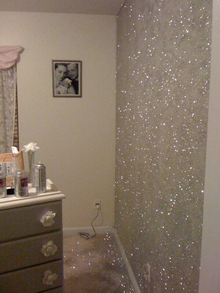23 glorious sparkle wall ideas chemin e chambres b b et decos - Peinture mural paillette ...