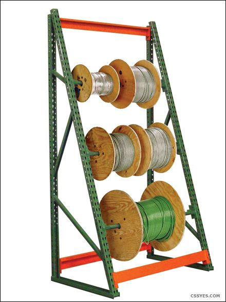 3 Rods 6 Feet Tall Cable Reel Rack Industrial Storage