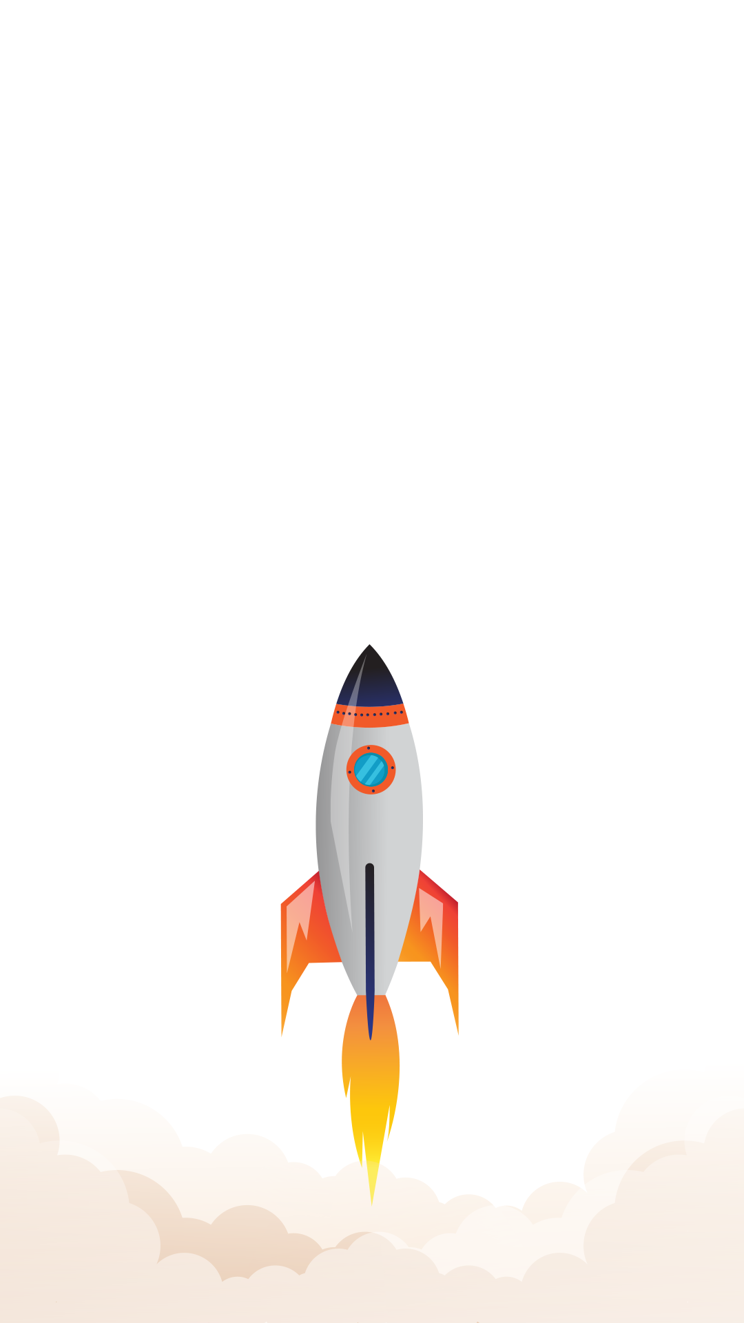 Minimal iPhone wallpaper blast off Fond ecran