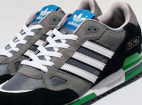 Adidas Originals Zx 750 Grey White Black Green Sneakernews Com Adidas Zx Adidas Fashion Adidas