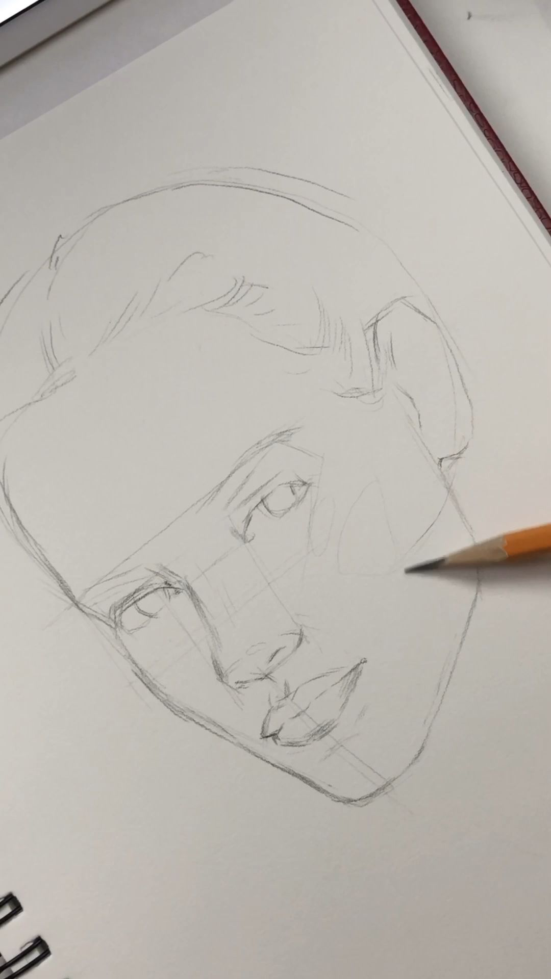 Photo of How to construct a face at 3/4 angle by Nadia Coolrista – Drawing people,Drawing tutorial,Drawing aesthetic and Drawing art blog