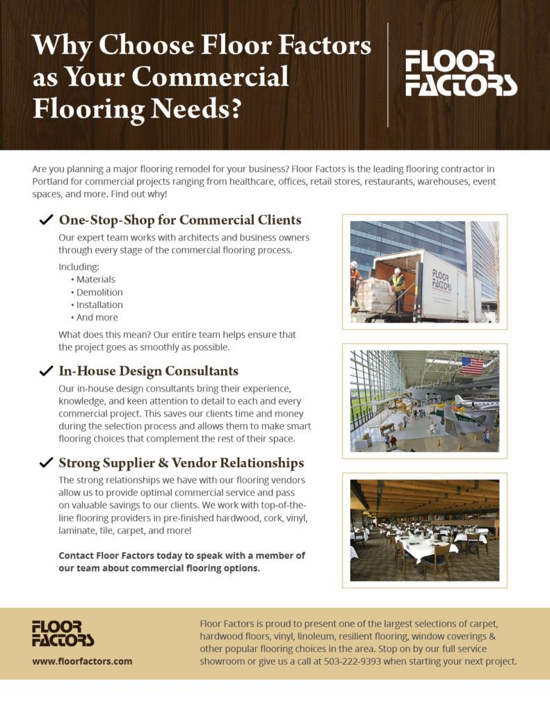 Take A Look At Our Handy Checklist To See Why Floor Factors Has Been The Northwest S Top Choice For Over 35 Years
