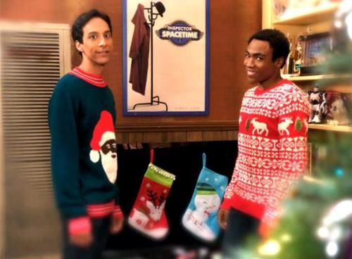 Merry Happy From Troy And Abed Holiday Music Community Halloween Community Episodes