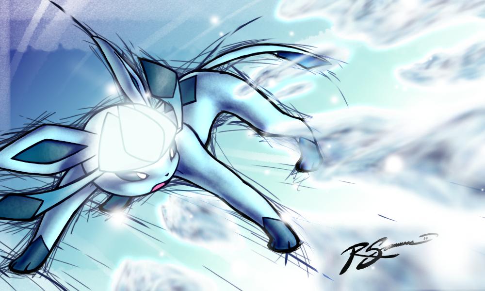 Glaceon S Ice Shard By Ja Punkster On Deviantart Pokemon Pictures Eevee Evolutions Pokemon Eevee