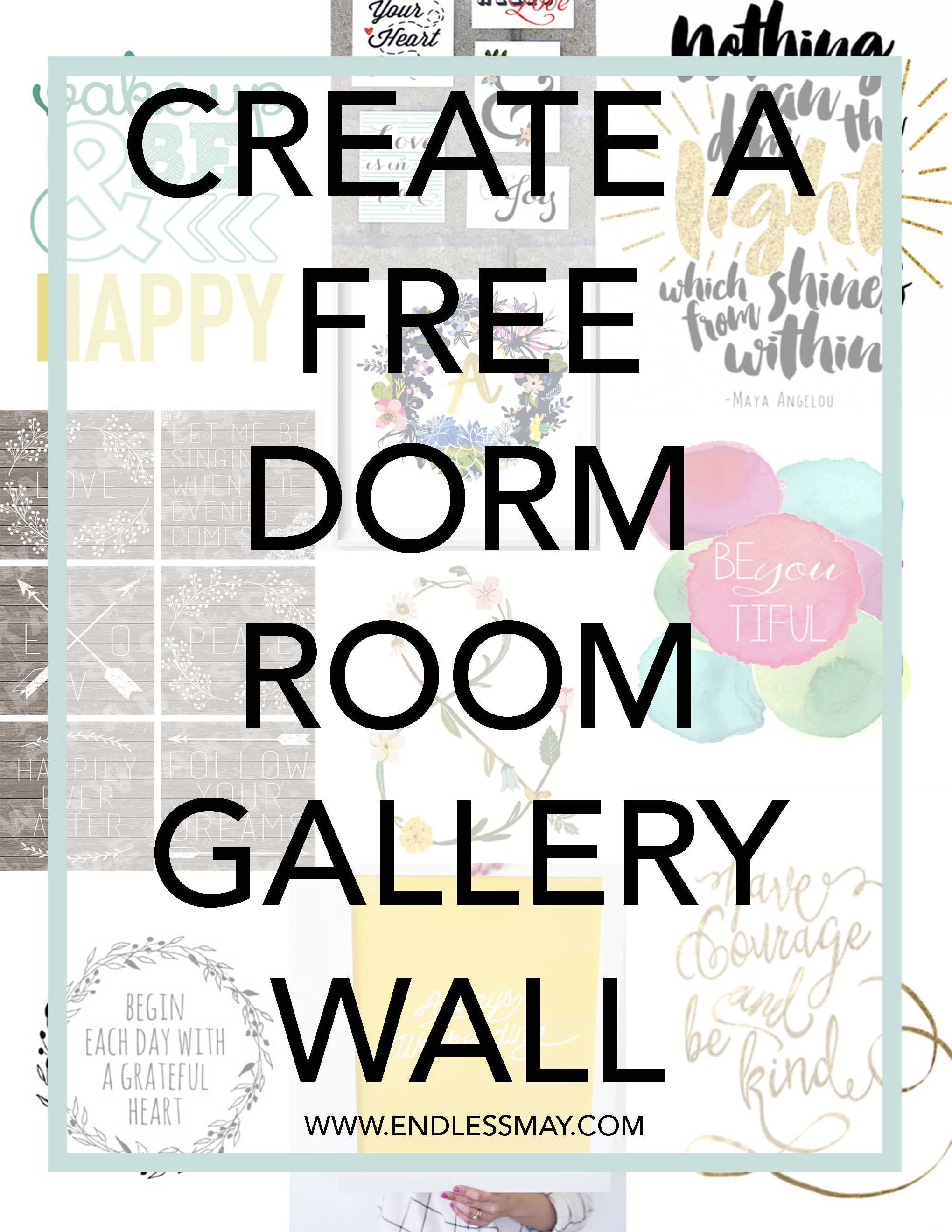 Dorm Room Gallery Wall Cute Free Printables For Your Dorm Room