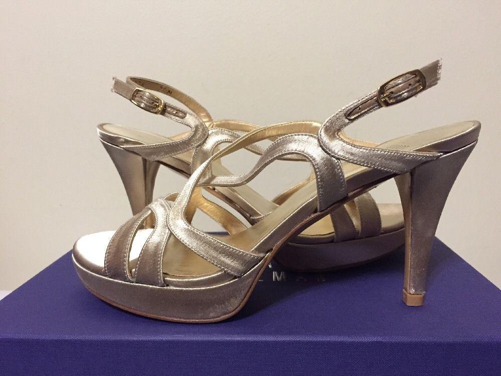 a548582814f37f Stuart Weitzman Axis Blonde Satin Womes Dressy Evening Platform Heels Sandal  7.5  StuartWeitzman  FashionDressyEveningHeelsPlatformSandals   ...