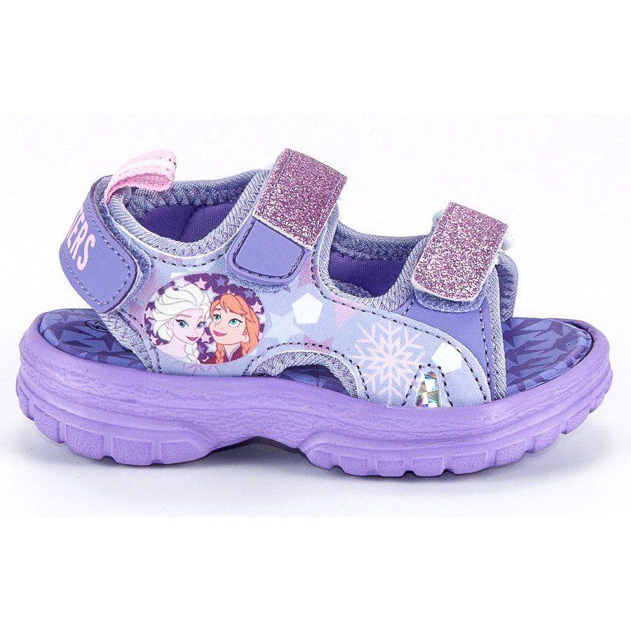 Sandalki Dzieciece Dla Dzieci Butymodne Fioletowe Sandaly Na Rzepy Kraina Lodu Butymodne Baby Shoes Shoes Fashion