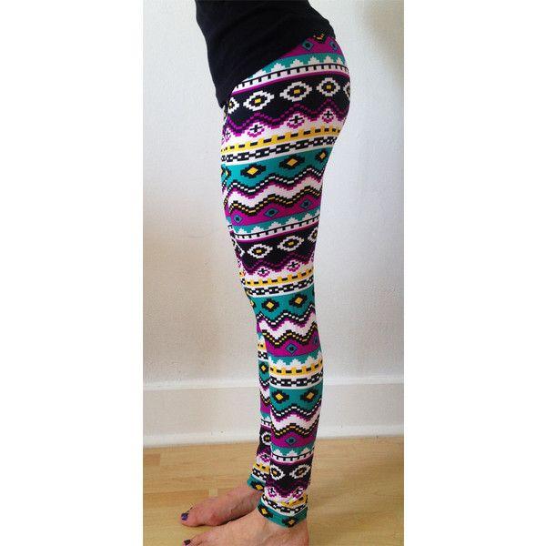 christmas leggings womens leggings yoga leggings tribal leggings 18 liked on polyvore featuring - Christmas Leggings Womens