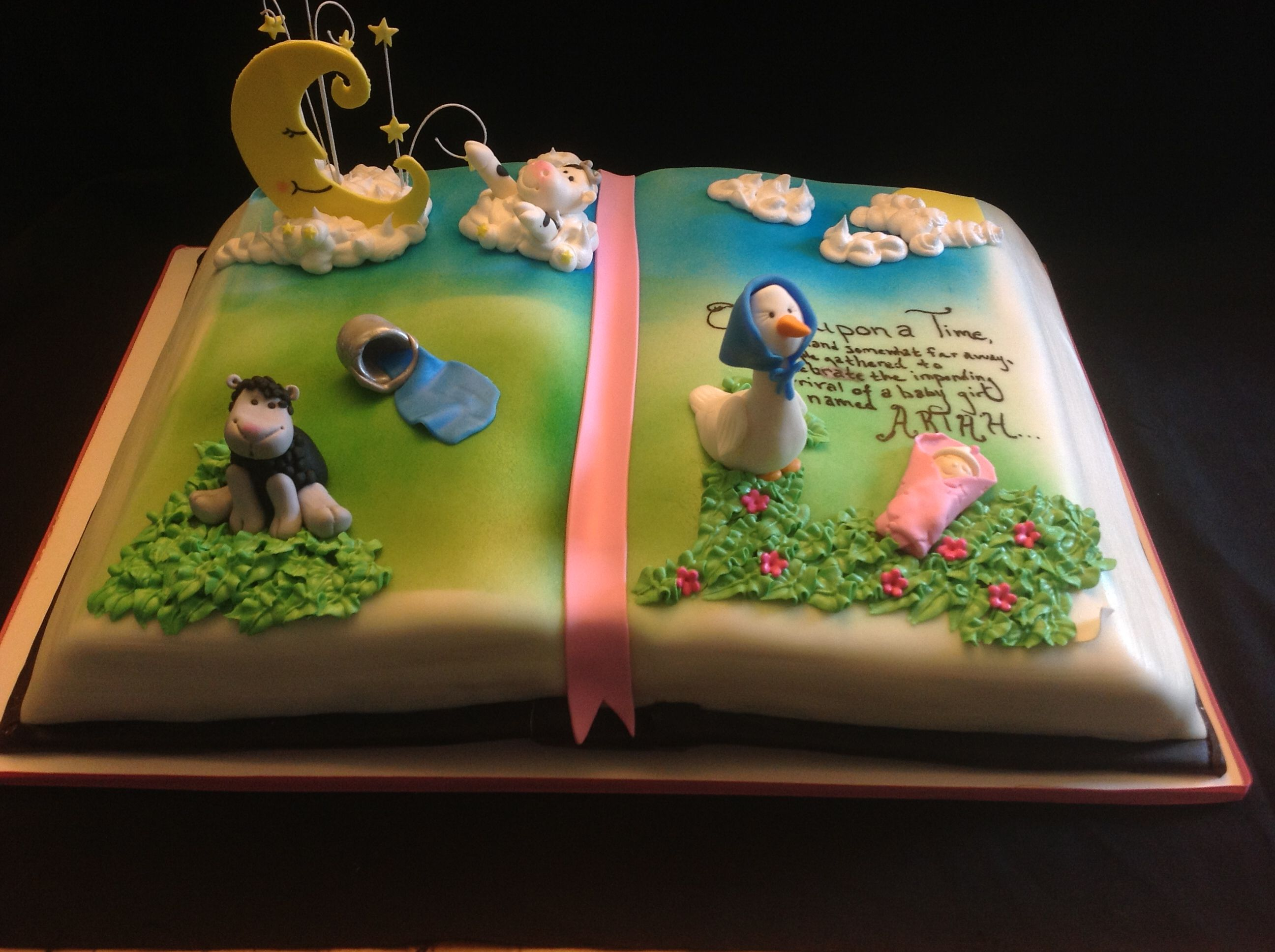 Mother Goose Baby Shower Cake By Amy Hart Sweethart