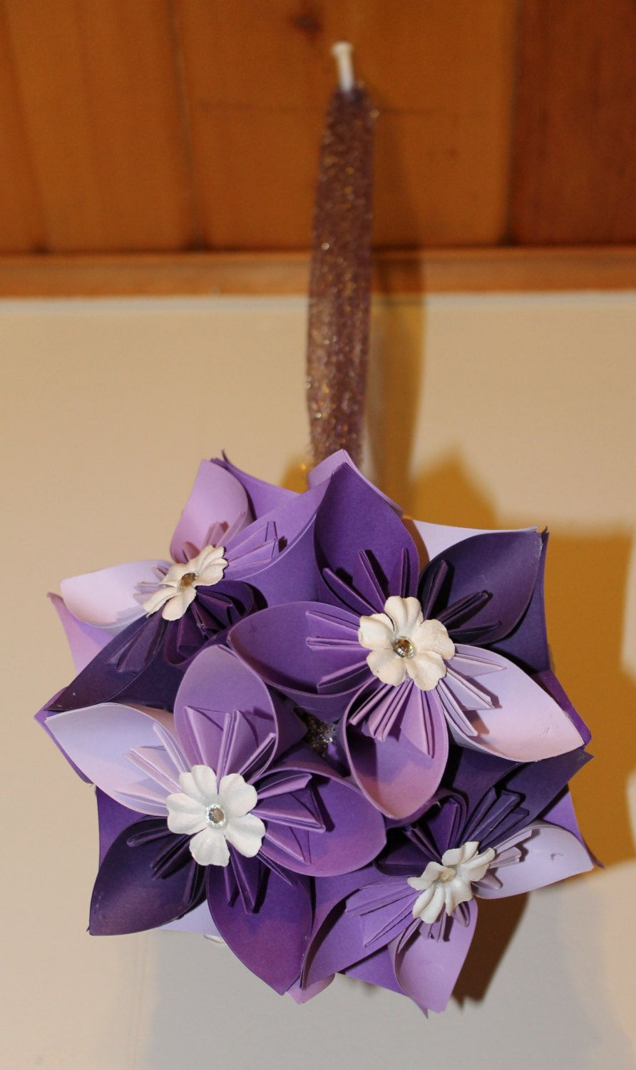 Origami Flower Ballpomander Purple Ombr 2000 Via Etsy