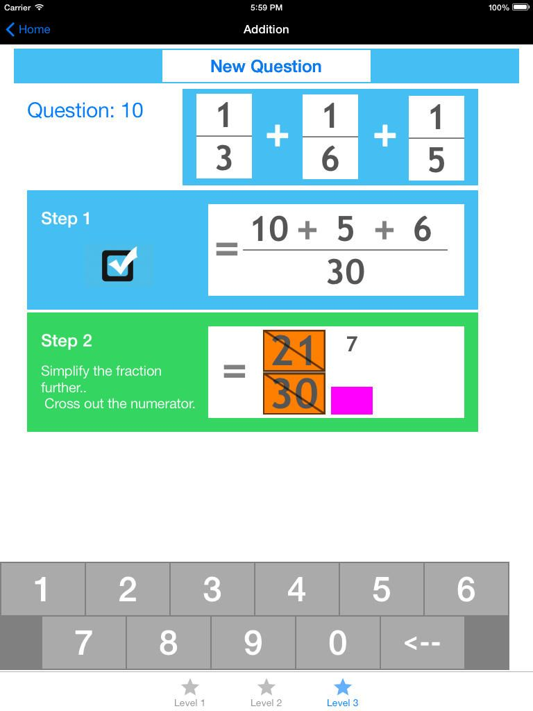 Fractions for Kids Just like learning on paper, a great app for kids ...