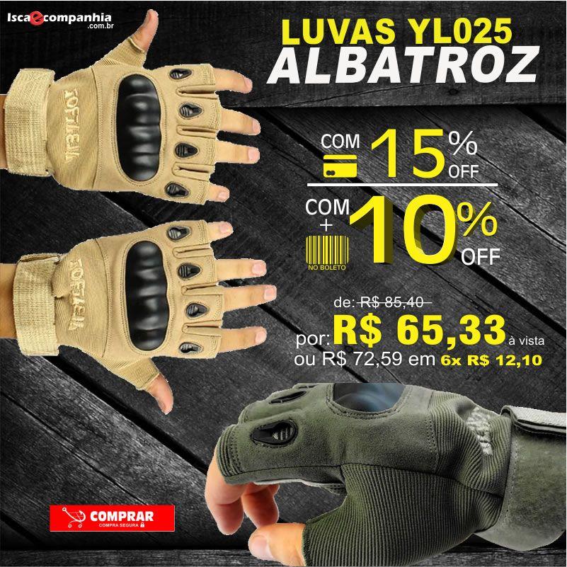 LUVA ALBATROZ YL025 -  Com este assessórios ganhamos mais precisão e proteção alta qualidade.  APROVEITE: https://goo.gl/u7Dwnb