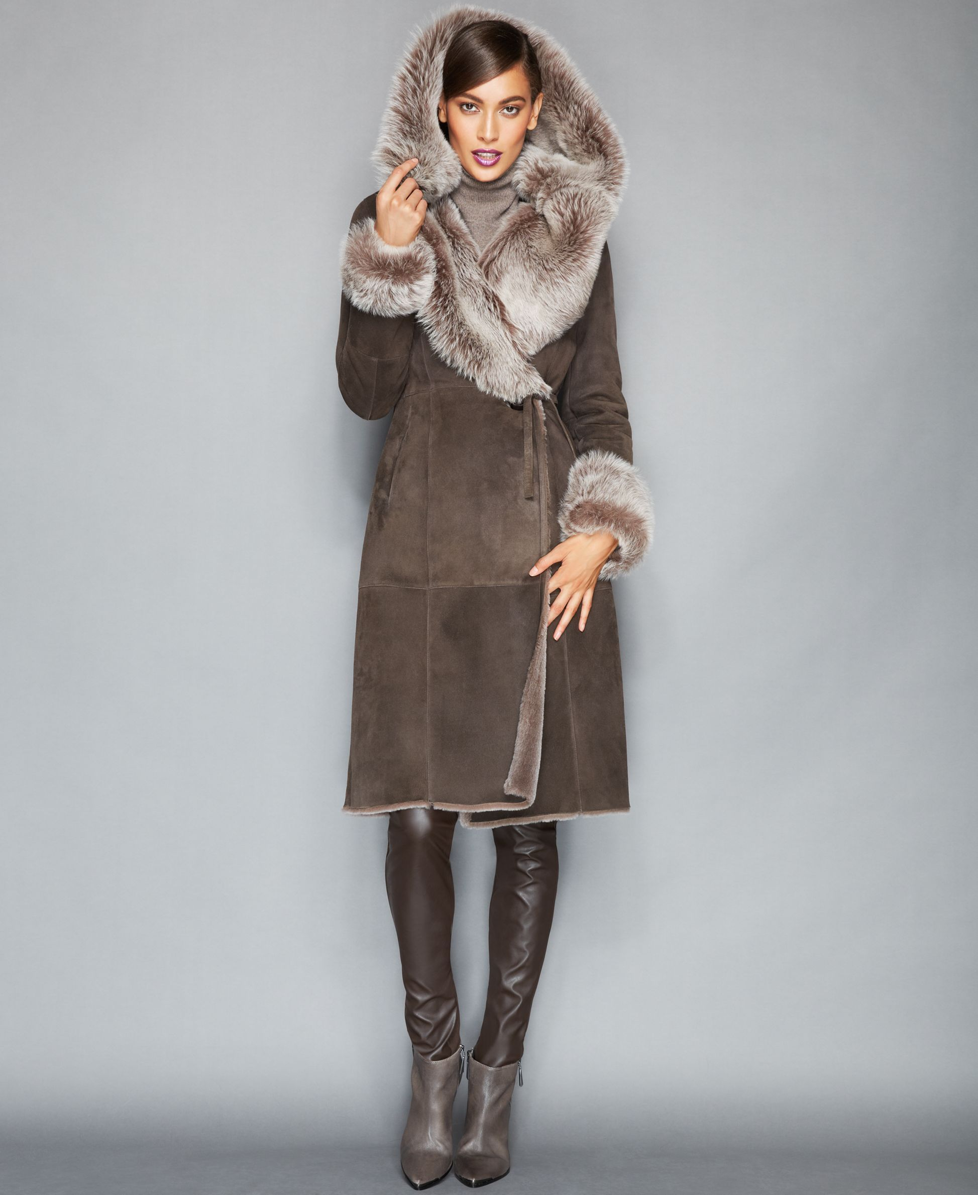 Burberry London Belted Shearling Coat | Fall / Winter Coats ...