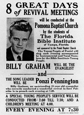 Poster with young Billy Graham | Inside the BGEA ...