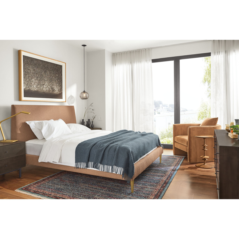 Room Board Ella Upholstered Bed Modern Contemporary Beds