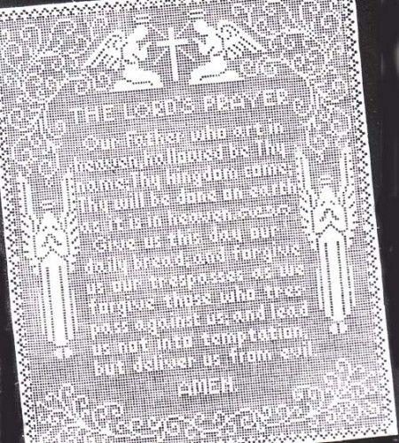 Alice Brooks The Lords Prayer Filet Crochet Panel Pattern PDF ...