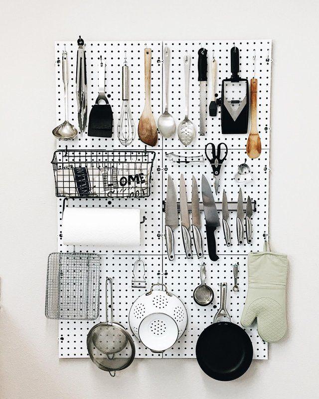 My Kitchen Pegboard Dreams Are Coming True Organizationporn Pegboard Kitchen Peg Board Apartment Organization