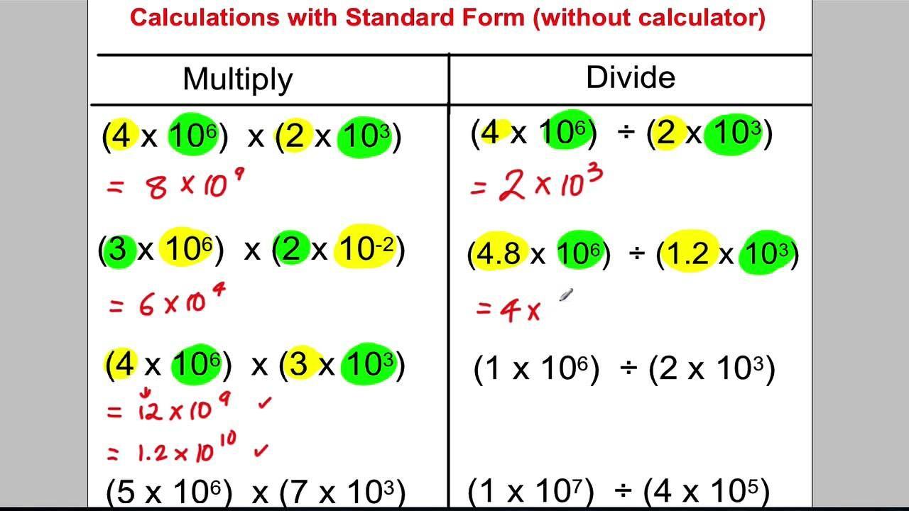 standard form brackets GCSE Revision Video 2 - Standard Form  Standard form, Gcse