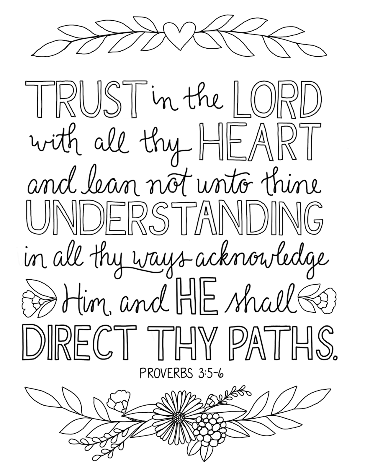 Trust In The Lord Coloring Page 6