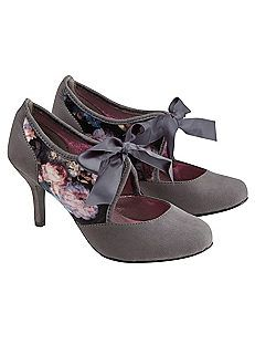 Joe Browns Vintage Velvet Ribbon Shoes