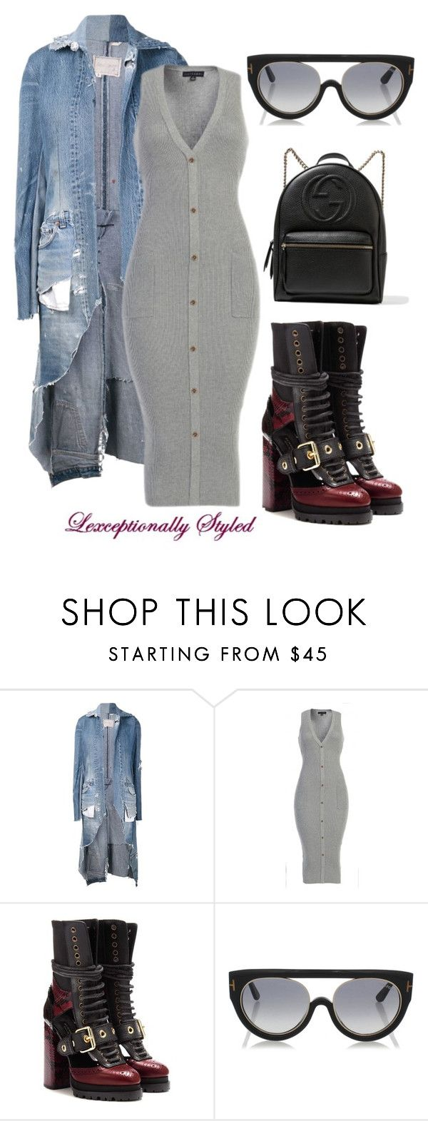 """Untitled #614"" by lexceptional on Polyvore featuring Greg Lauren, Burberry, Tom Ford and Gucci"