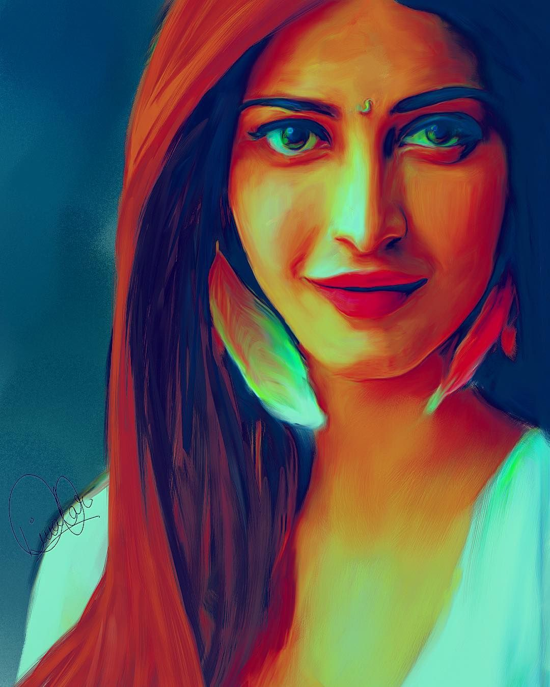 Shruti Hasan #art #illustration #drawing #draw #picture #artist ...