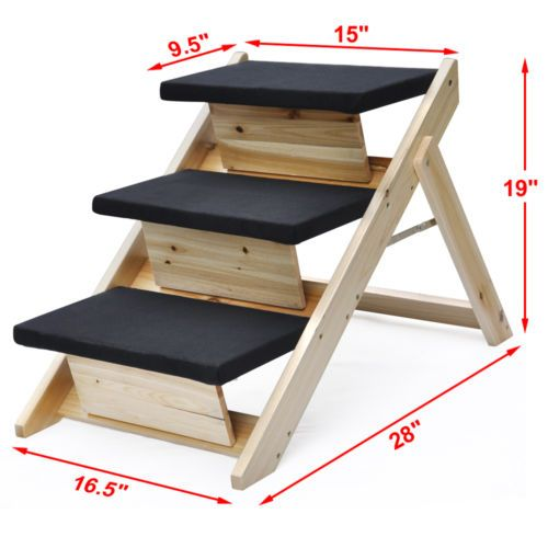 Best Indoor Or Outdoor Folding Portable Pet Stairs Cat Dog Ramp 640 x 480