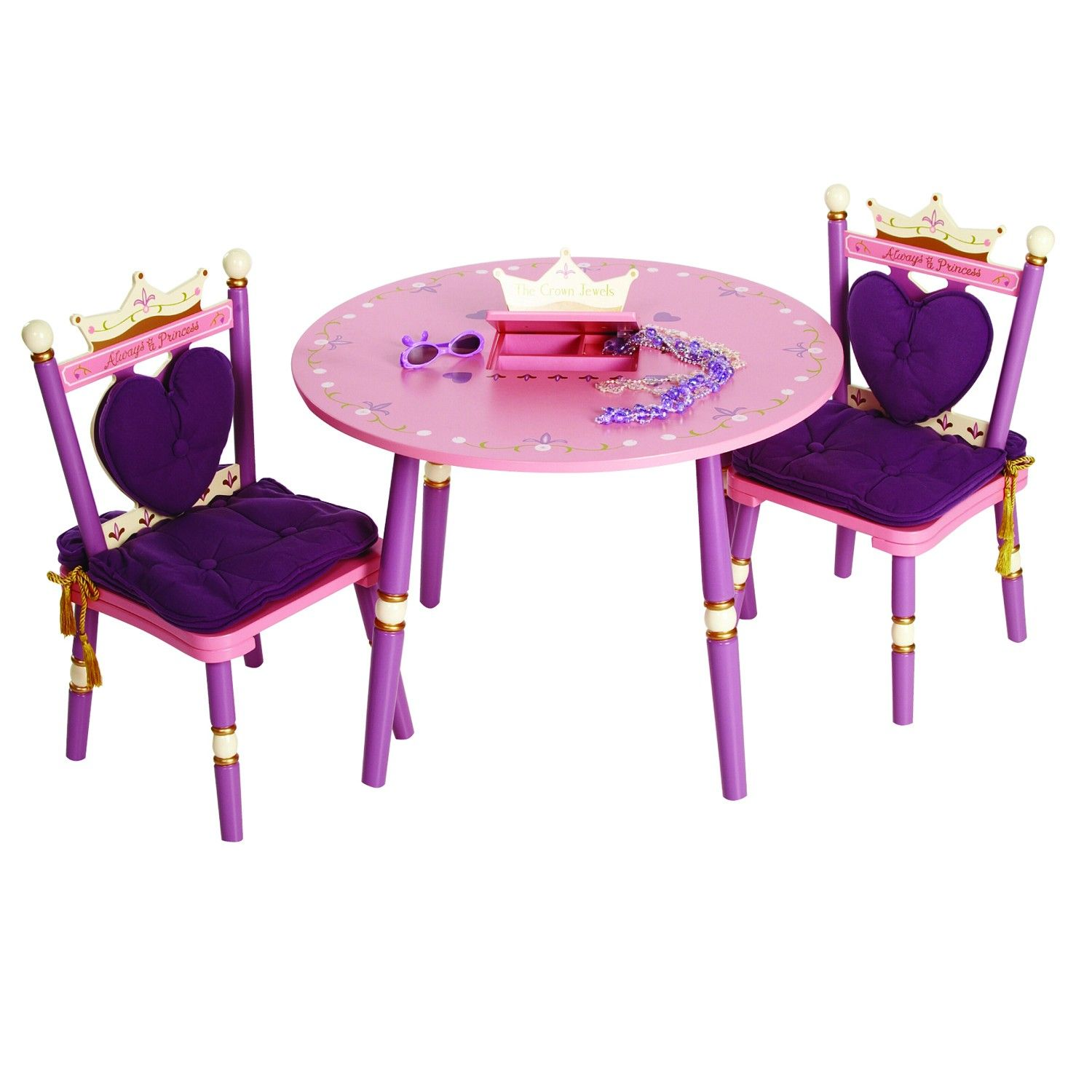 Wondrous Levels Of Discovery Princess Childs Table And Two Chair Set Complete Home Design Collection Barbaintelli Responsecom