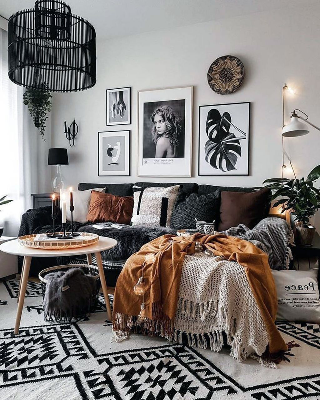 28 Marvelous Scandinavian Living Rooms With Boho Style Ideas