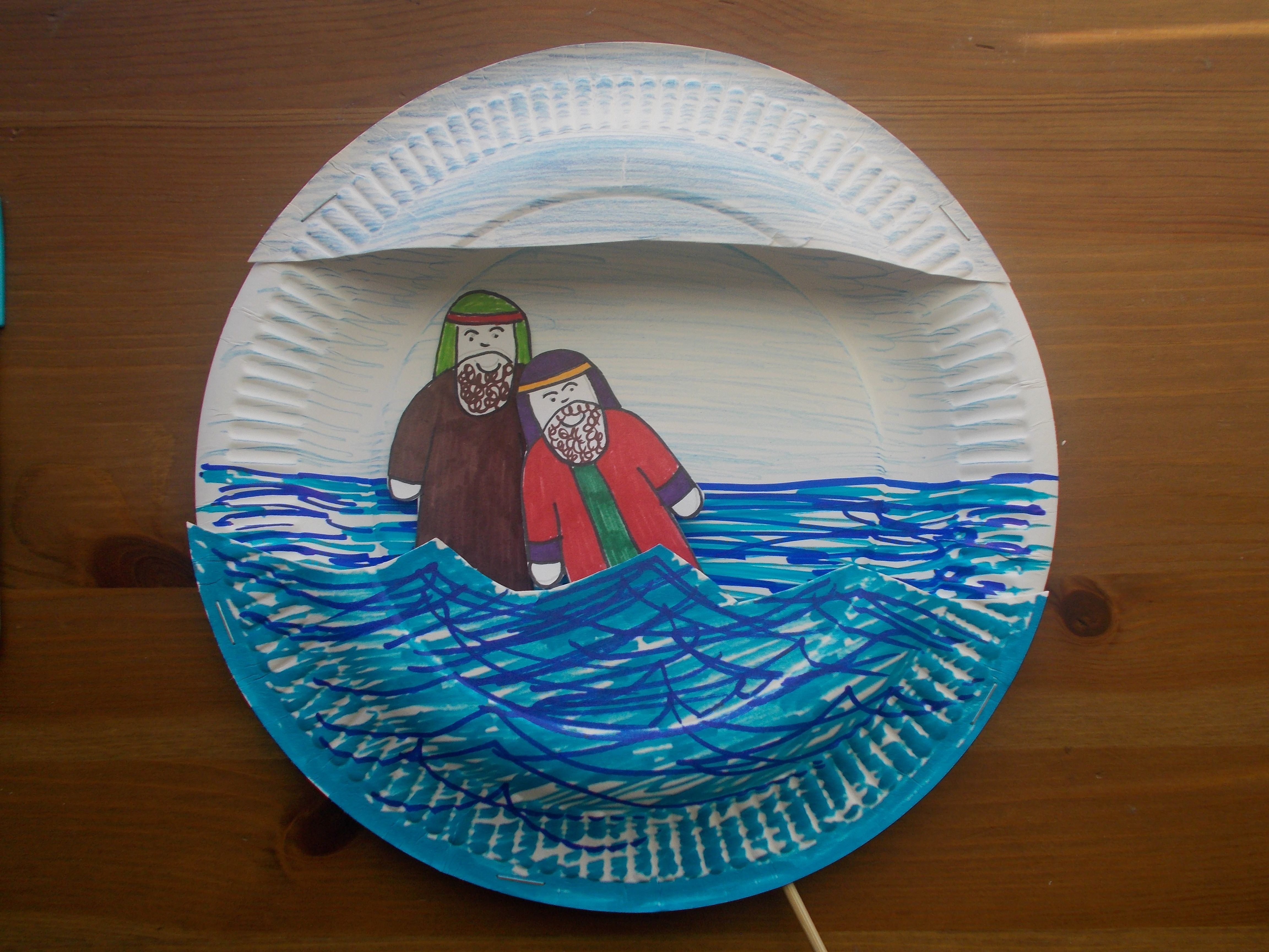 Baptism craft let their light shine bible acts for John the baptist craft for kids