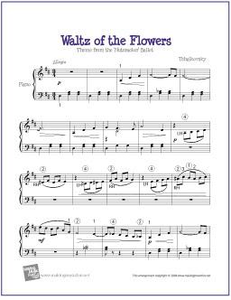 Waltz of the Flowers (Nutcracker) | Free Easy Piano Sheet Music – Sheri Cameron