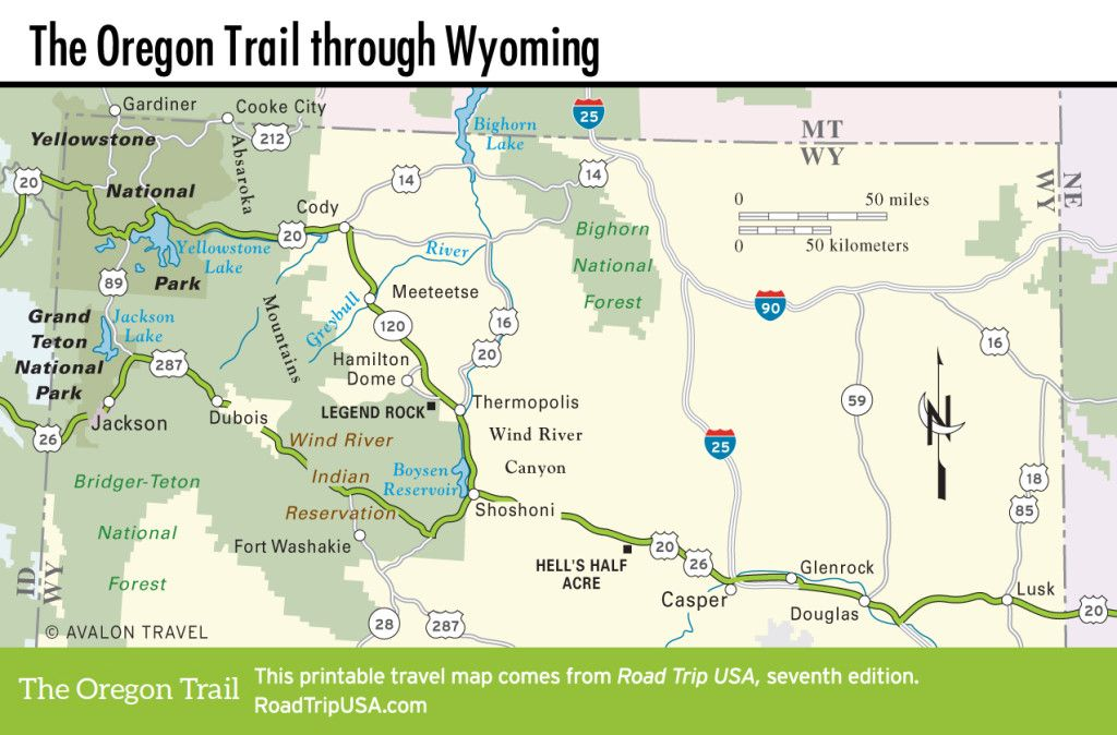 wyoming road and travel map The Oregon Trail Across Wyoming Wyoming Travel Road Trips wyoming road and travel map