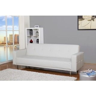Shop for Cleveland White Convertible Sofa Bed Get free shipping at