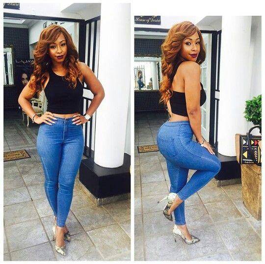 Boity Thulo Denim Style Celebrity Look African Women Denim Fashion Ootd