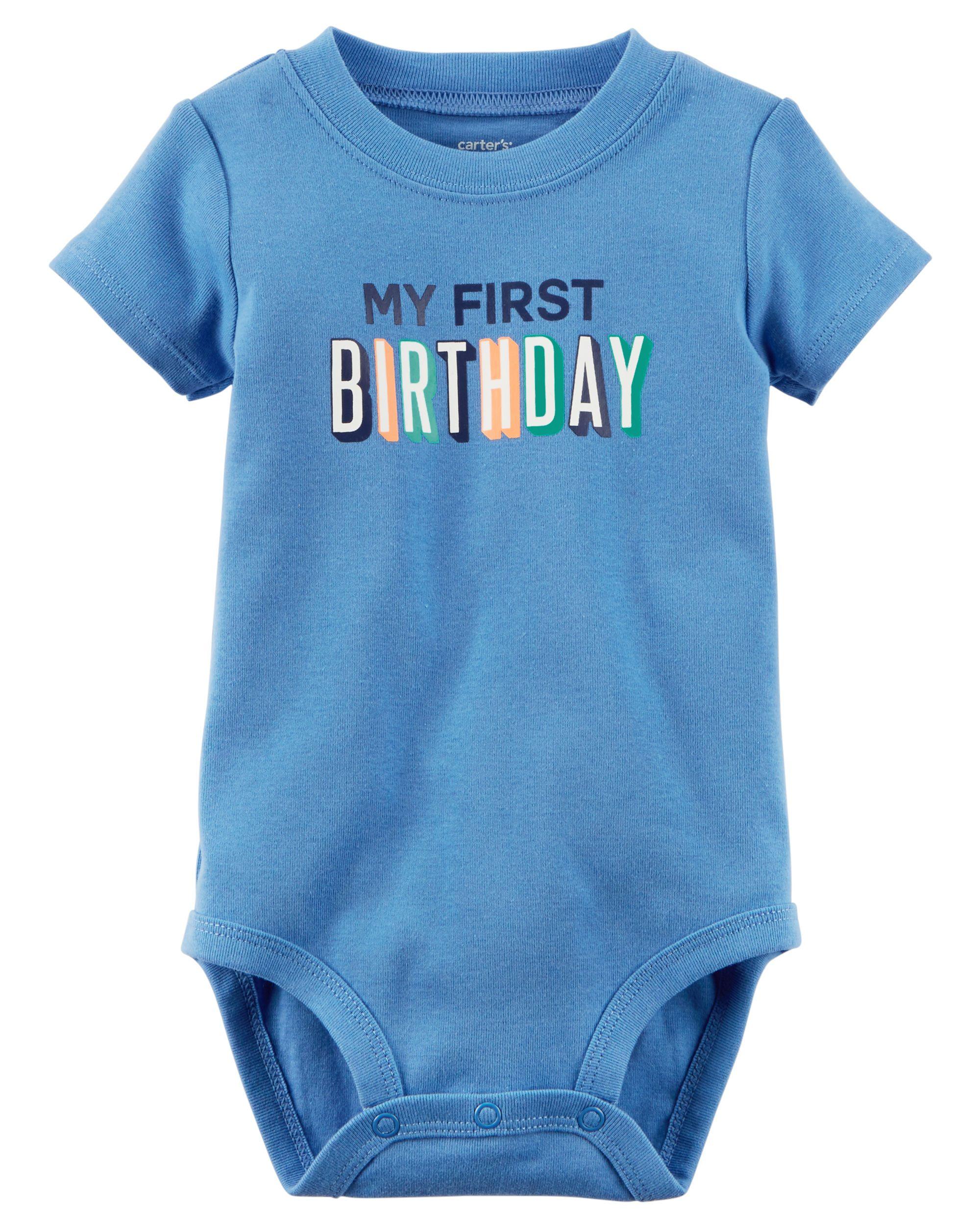 Baby Boy My First Birthday Collectible Bodysuit