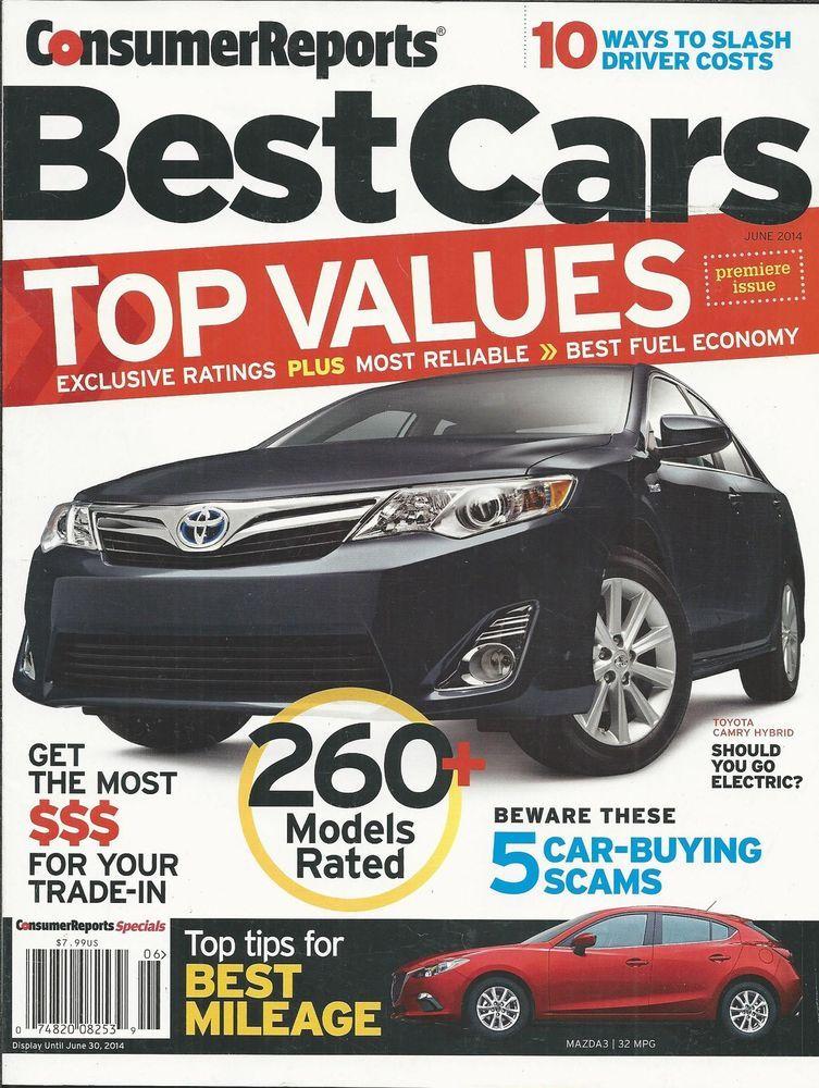 Consumer Reports Cars magazine Sedans SUV Pickup trucks Minivan ...