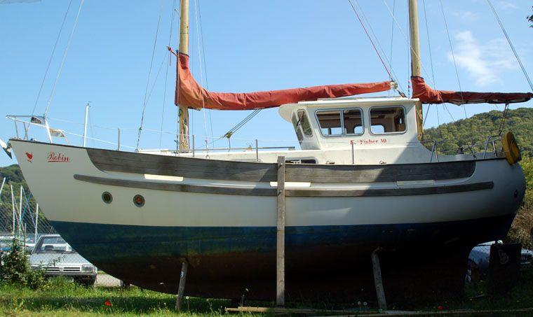 fisher motor sailer   fisher 30 motorsailer   Boats