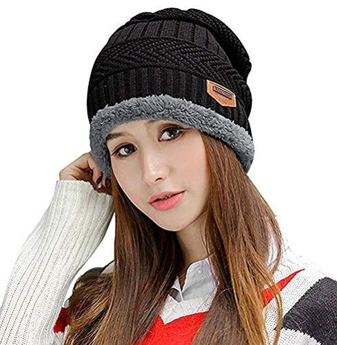 HINDAWI Winter Slouchy Beanie Gloves for Women Knit Hats Skull Caps Touch Screen