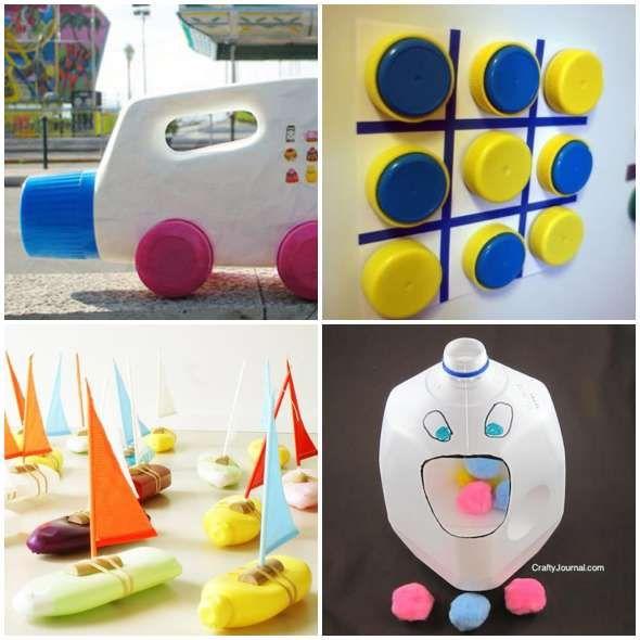 10 Brinquedos Com Material Reciclado Faceis De Fazer Brinquedos