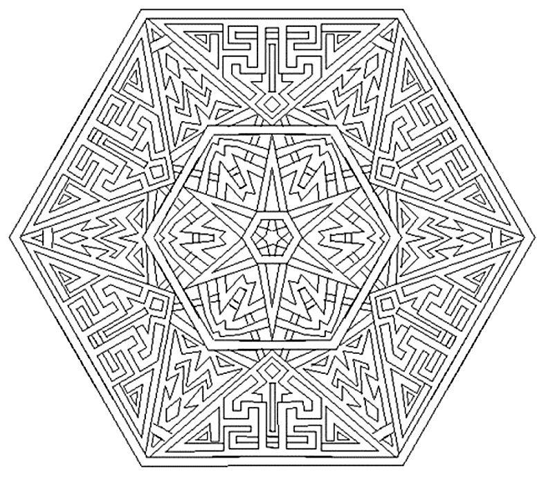 Coloring For Adults Kleuren Voor Volwassenen Geometric Coloring Pages Mandala Coloring Mandala Coloring Pages