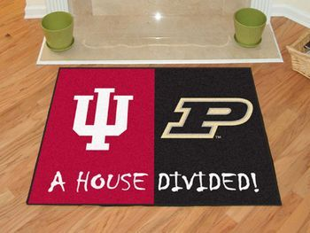 "House Divided: Indiana / Purdue 1 House Divided Mat 33.75"""" X 42.5"""""