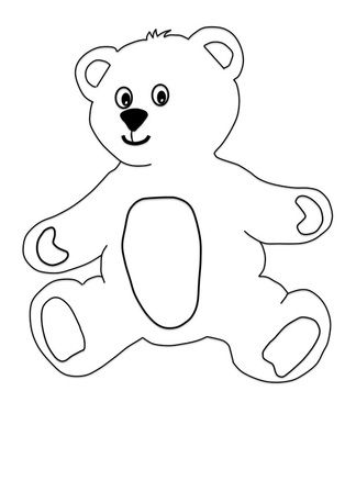 Teddy bear craft for kids with printable templates for the