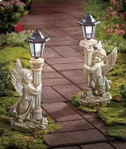 Garden Angel Solar Lantern Statue Patio Light Decor Walkway Yard Outdoor Lamp Ebay