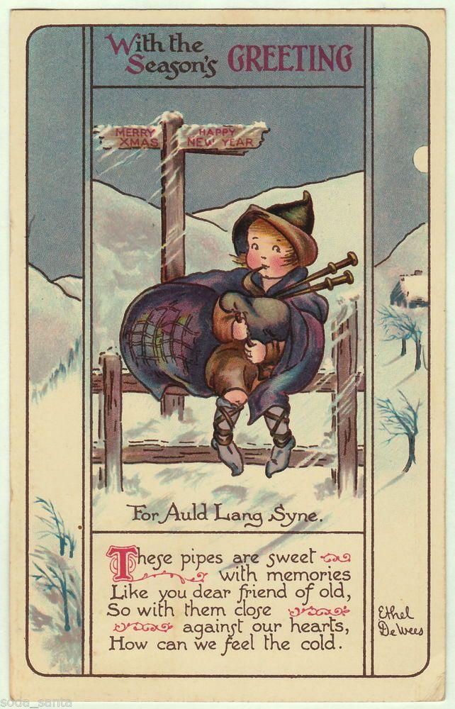 Vintage postcards bagpipers 1913 nister antique new year postcard vintage postcards bagpipers 1913 nister antique new year postcard bagpipe music child sgn ethel m4hsunfo