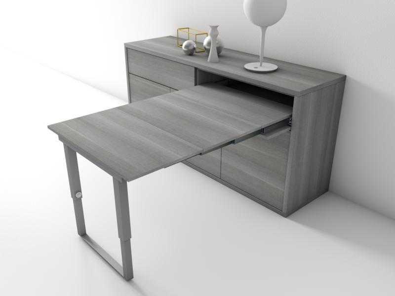 Group design consolle olanda bianco e noce tavolo allungabile